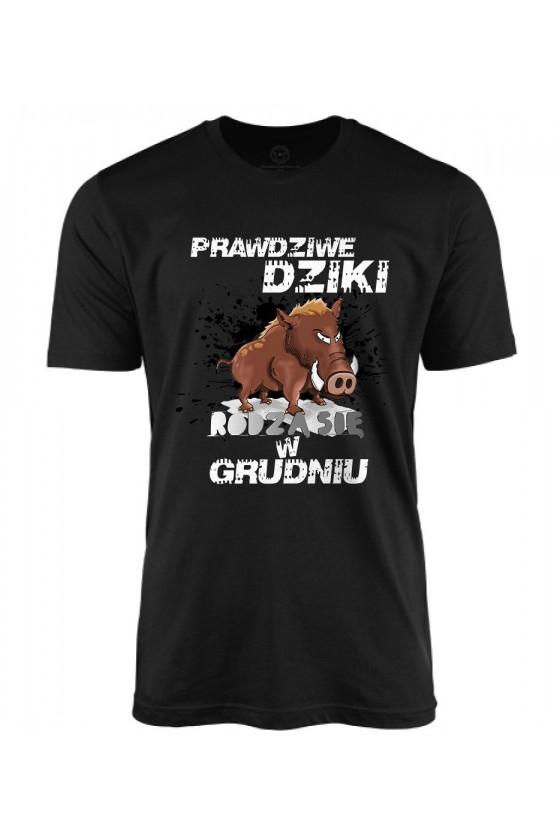 Koszulka męska Prawdziwe Dziki rodzą się w Grudniu