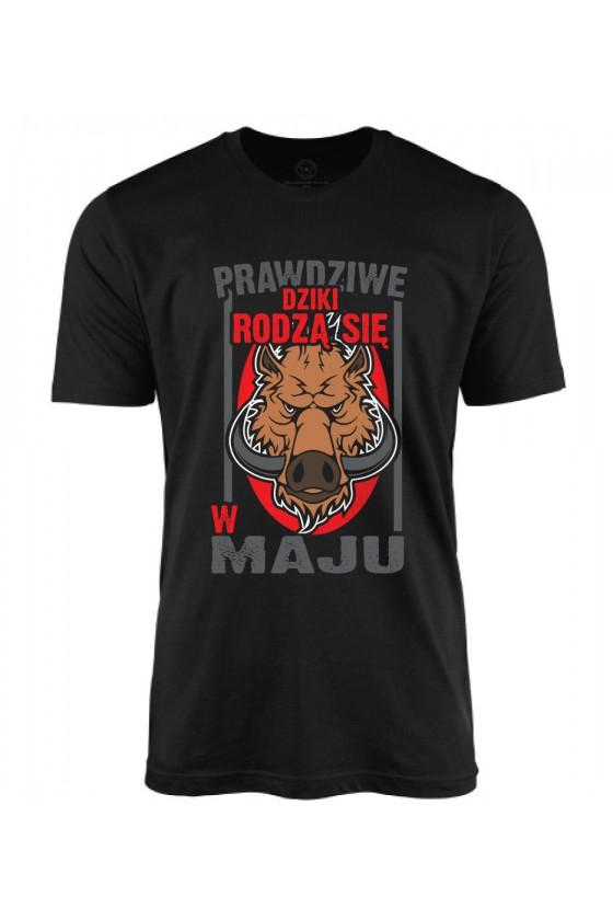 Koszulka męska Prawdziwe Dziki rodzą się w Maju 2