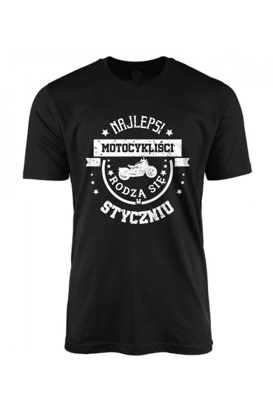 Koszulka męska Najlepsi motocykliści rodzą się w styczniu