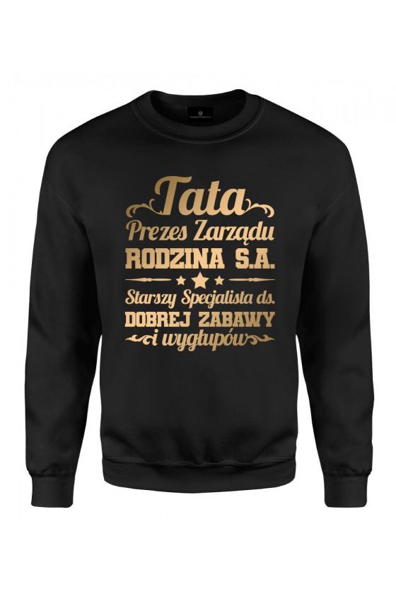 Bluza klasyczna Prezent na dzień ojca Koszulka Tata Prezes Zarządu Rodzina S.A. 2019
