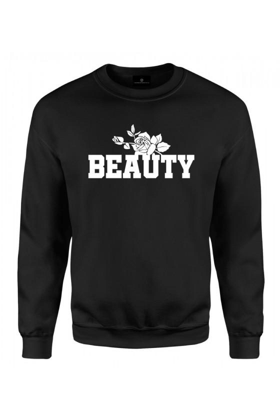 Bluza klasyczna Dla Par z napisem Beauty