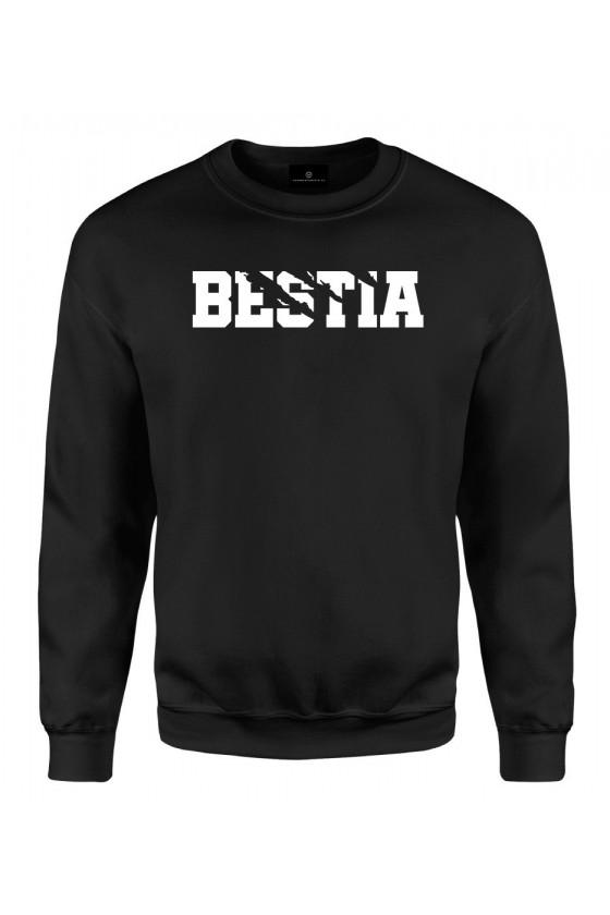 Bluza klasyczna Dla Par z napisem Bestia