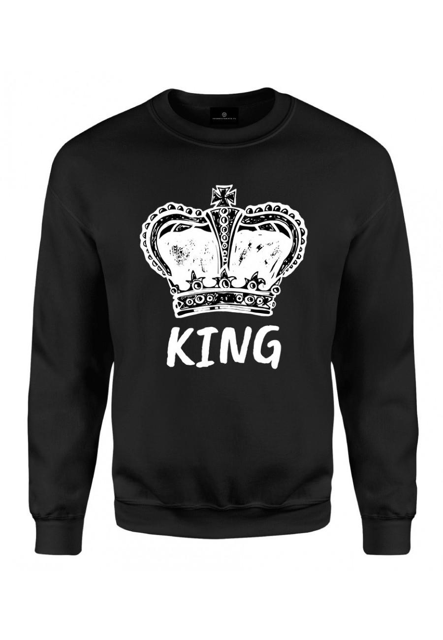 Bluza klasyczna Dla Par - koszulka z napisem King