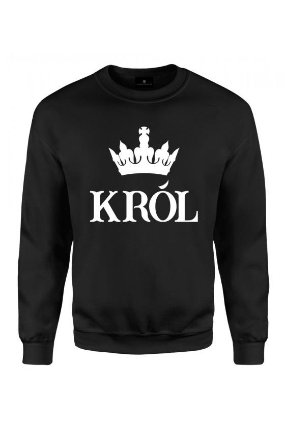 Bluza klasyczna Dla Par z napisem Król