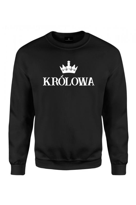 Bluza klasyczna Z napisem Królowa