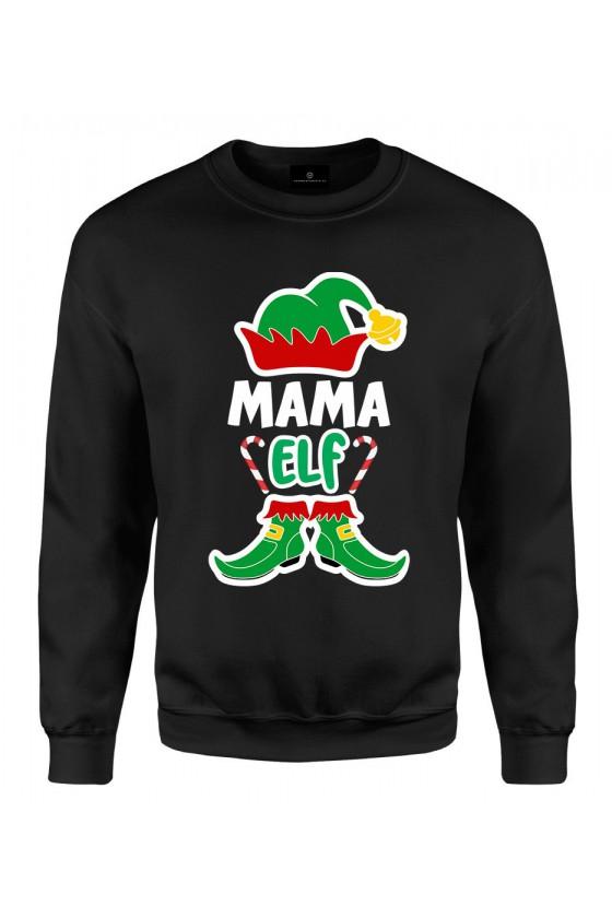 Bluza klasyczna Z napisem mama elf