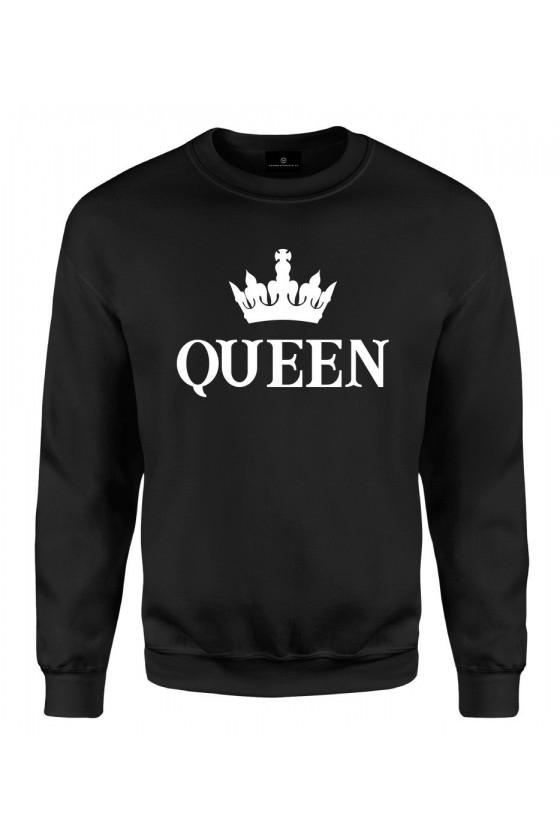 Bluza klasyczna Dla Par z napisem Queen