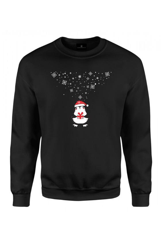 Bluza klasyczna Z pingwinem dającym prezent