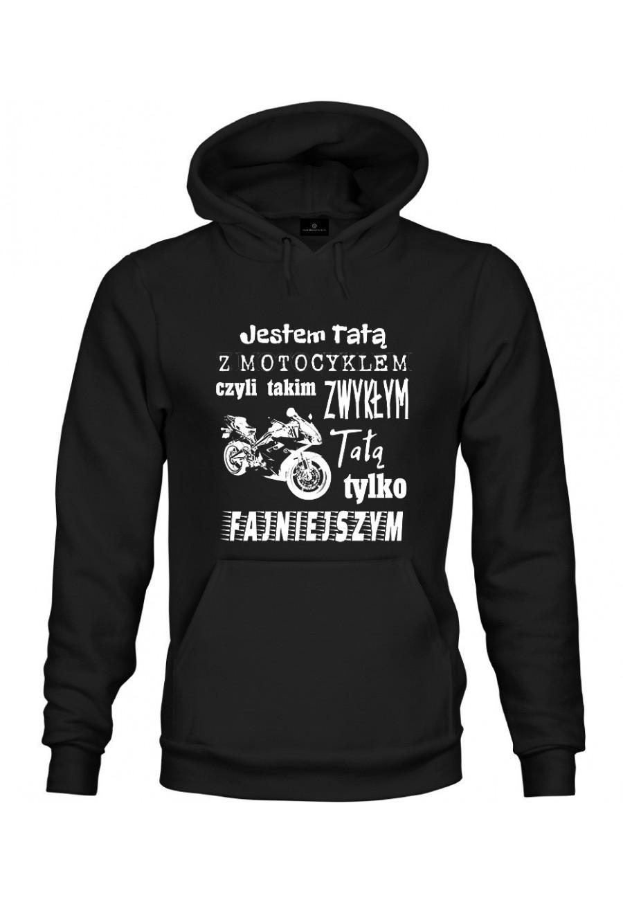 Bluza z kapturem Jestem Tatą z Motocyklem 2