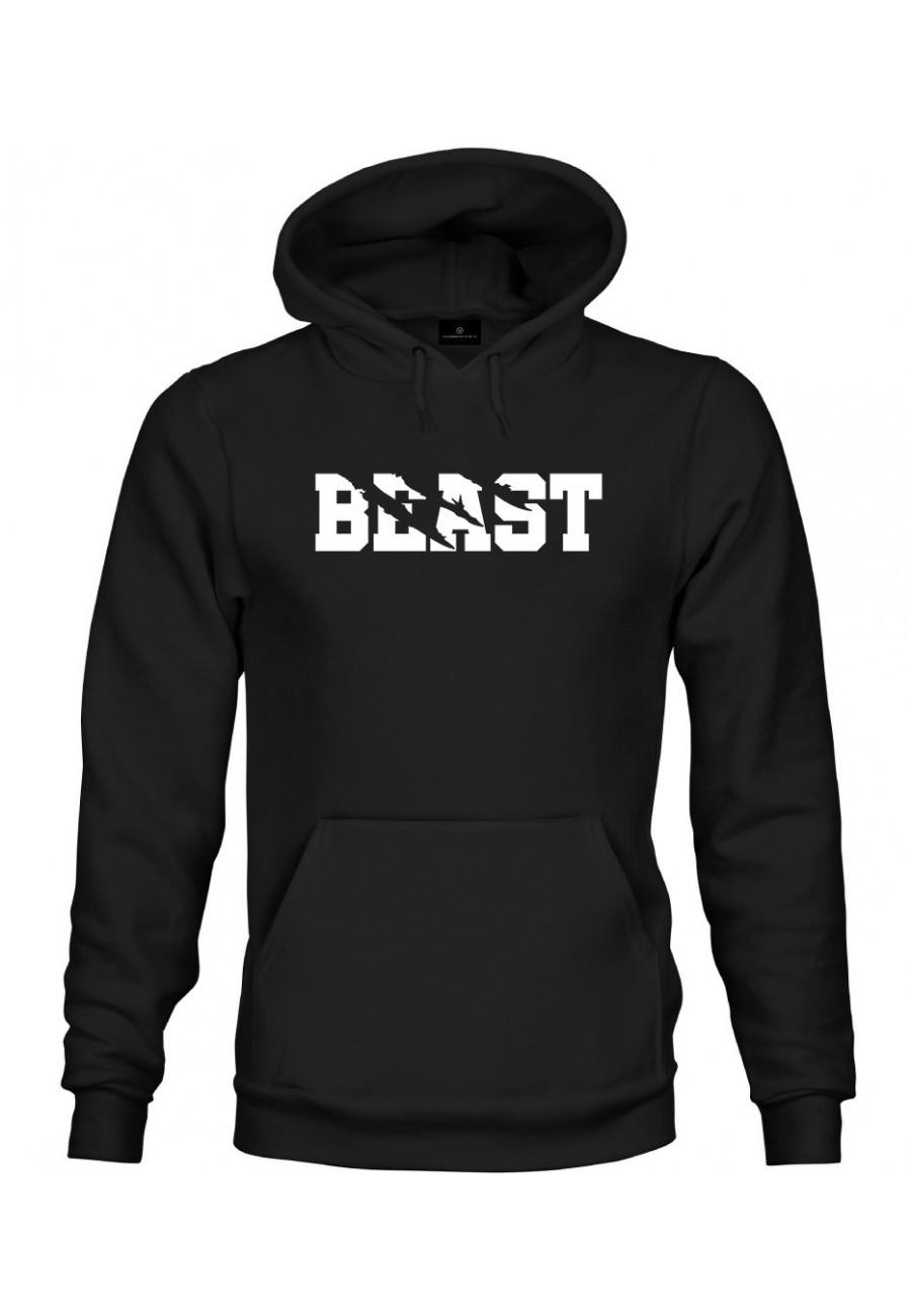 Bluza z kapturem Dla Par z napisem Beast