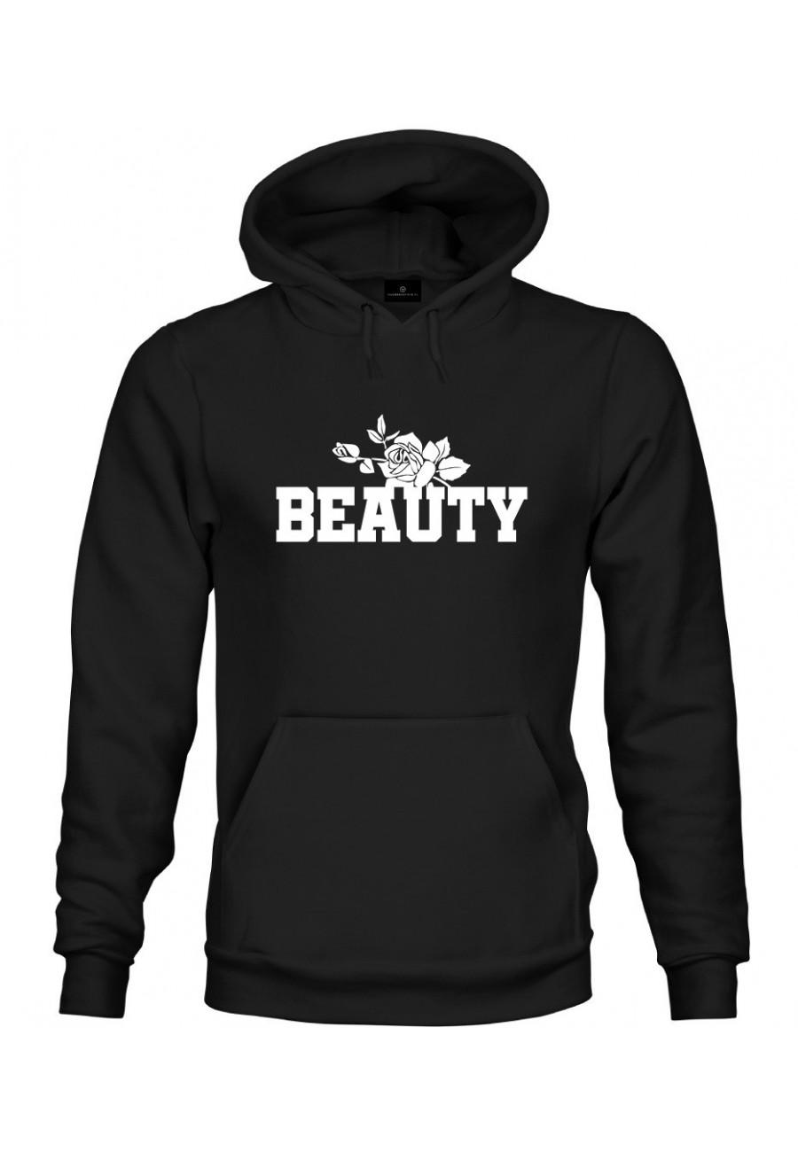 Bluza z kapturem Dla Par z napisem Beauty