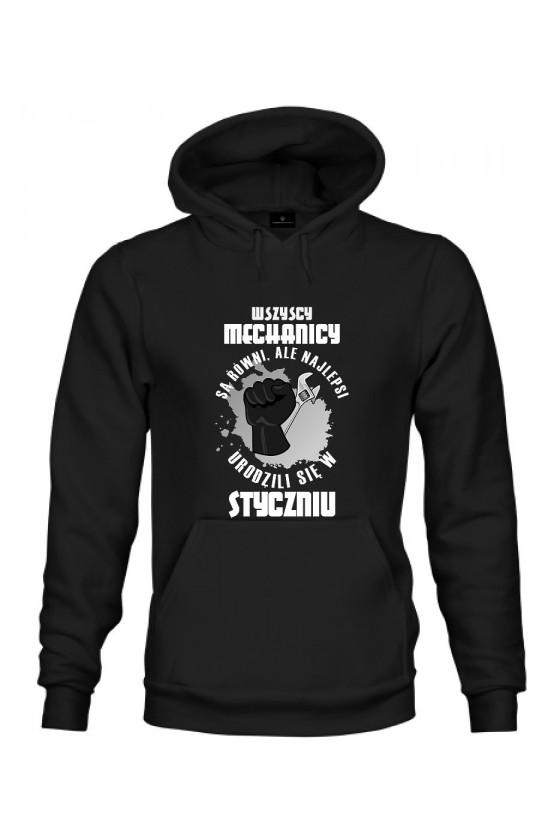 Bluza z kapturem Najlepsi Mechanicy urodzili się w Styczniu