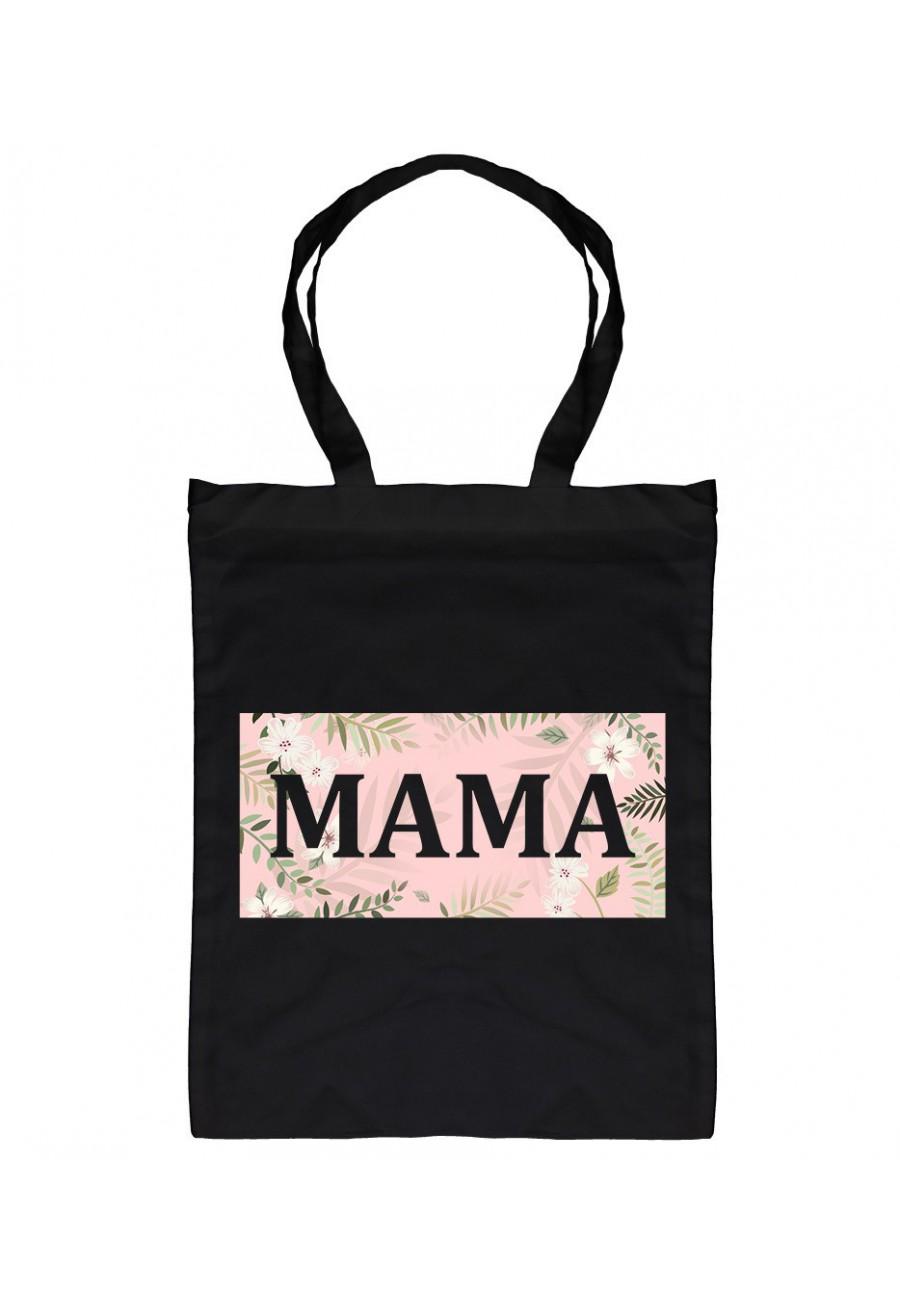 Torba bawełniana Z napisem Mama (kwiaty) 2