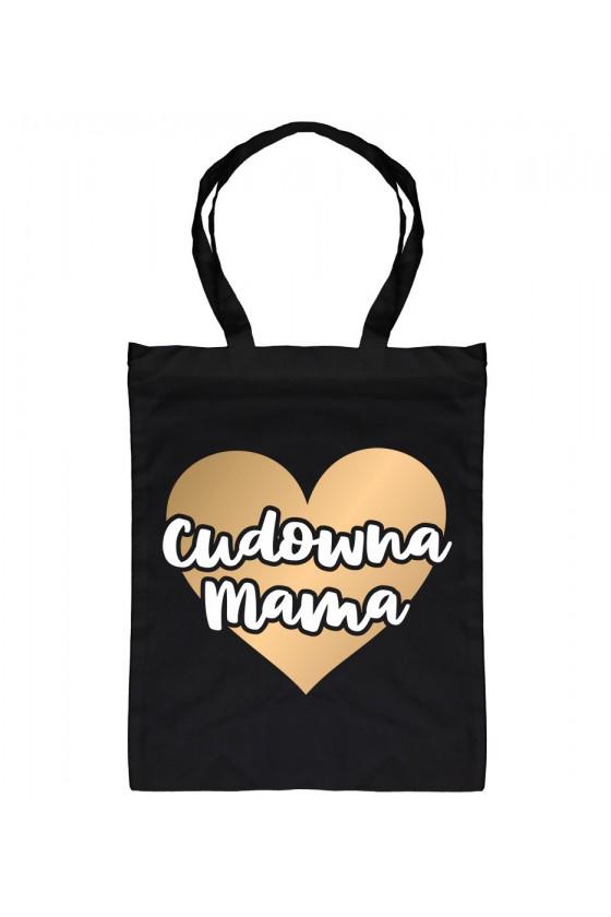 Torba bawełniana Z napisem Cudowna Mama (złote serce)