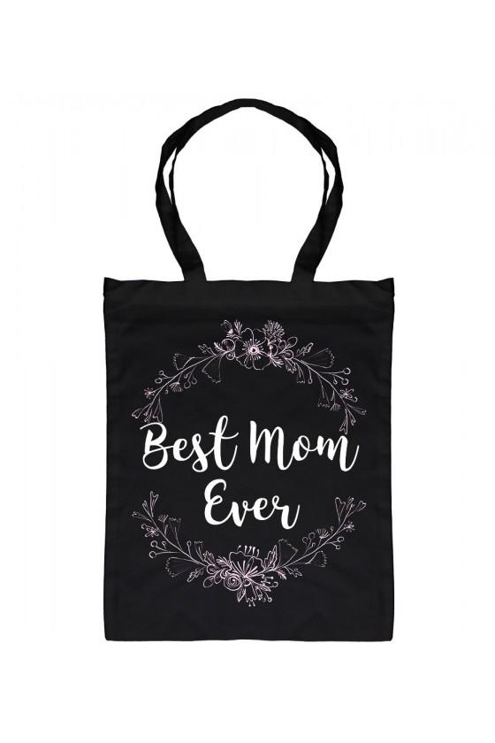 Torba bawełniana Dla Mamy Best Mom Ever - kwiatki