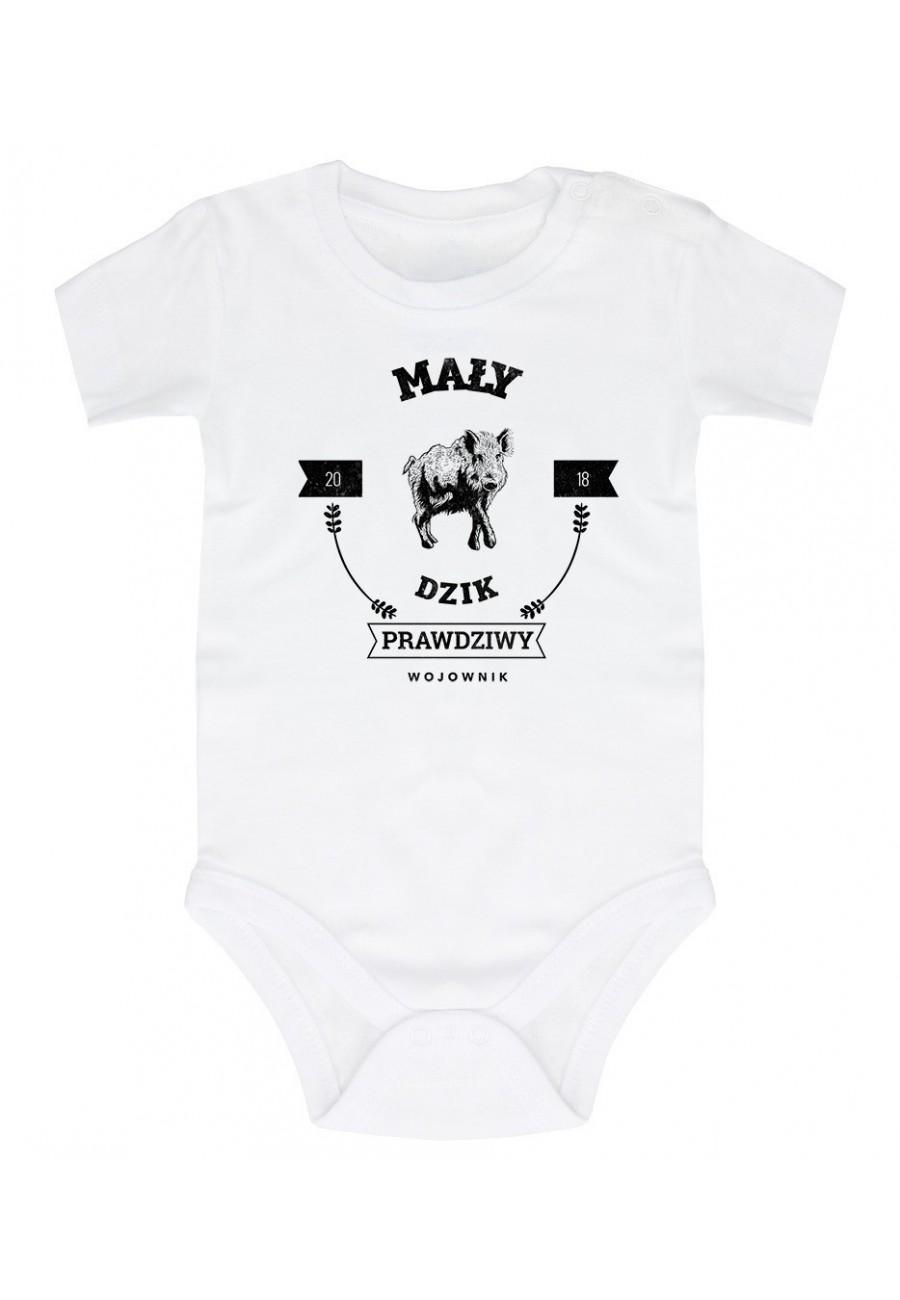 Body niemowlęce Z napisem mały dzik prawdziwy wojownik