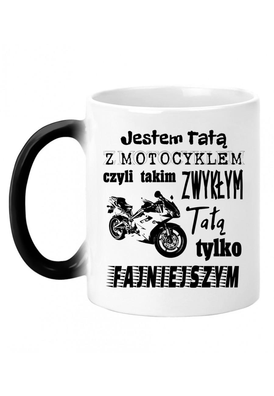 Kubek magiczny Jestem Tatą z Motocyklem 2