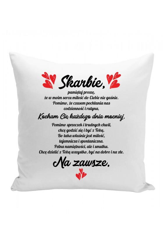 Poduszka Z romantycznym tesktem dla ukochanej osoby