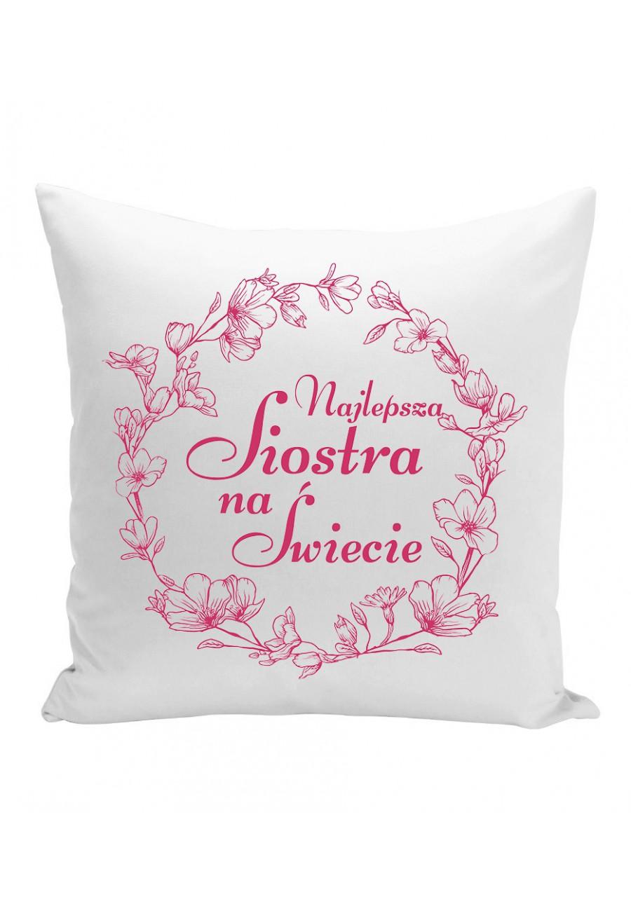 Poduszka Najlepsza Siostra na świecie (fiolet)