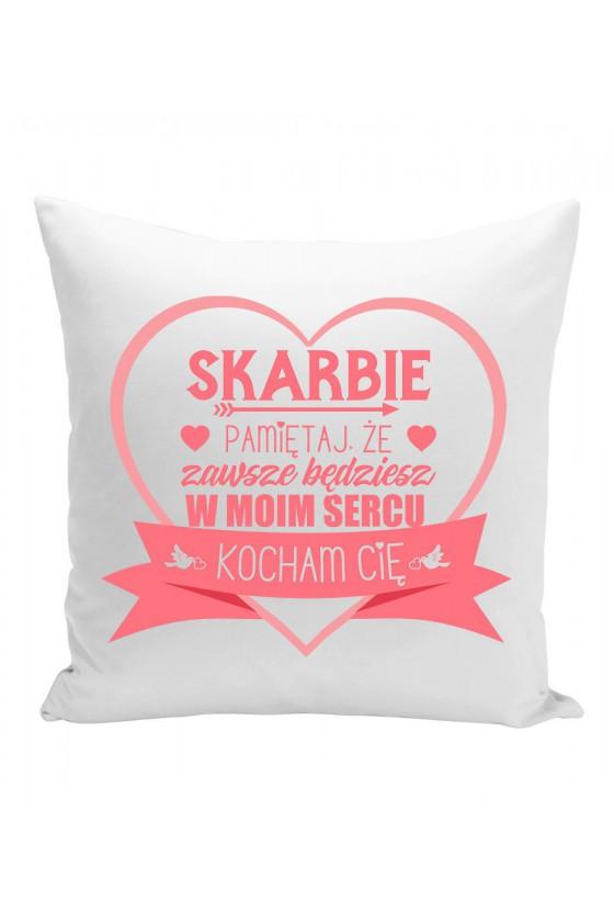 Poduszka Z różowym nadrukiem dla ukochanej - prezent na walentynki