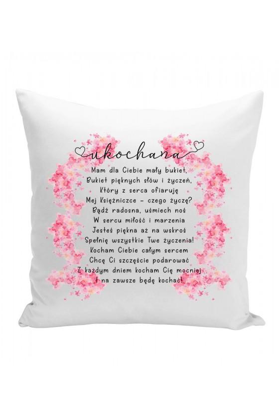 Poduszka Dla Twojej Ukochanej z wierszem - bukiet życzeń