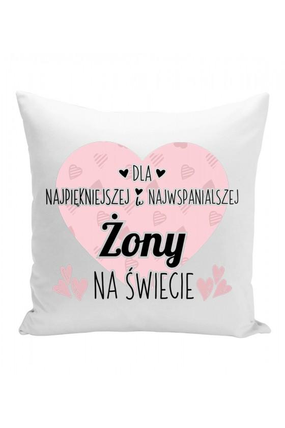 Poduszka Z miłosnym nadrukiem dla żony