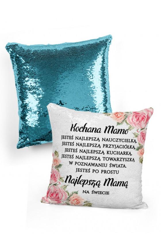 Poduszka cekinowa na prezent dla mamy