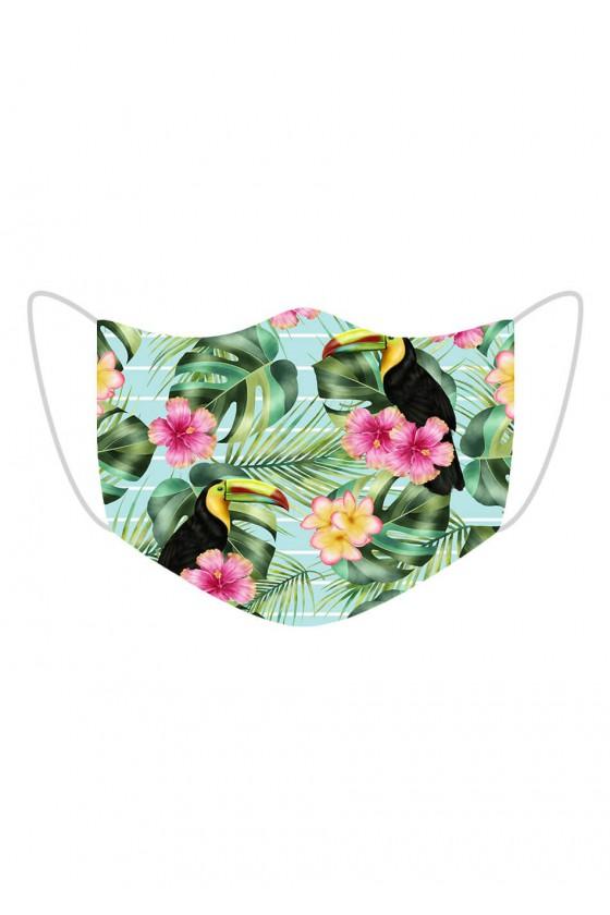 Maseczka Toucans in Flowers