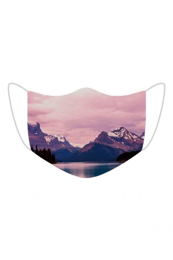 Maseczka Pink Mountains