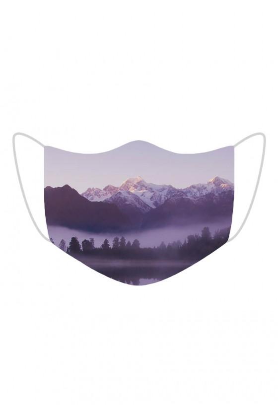Maseczka Violet Mountains