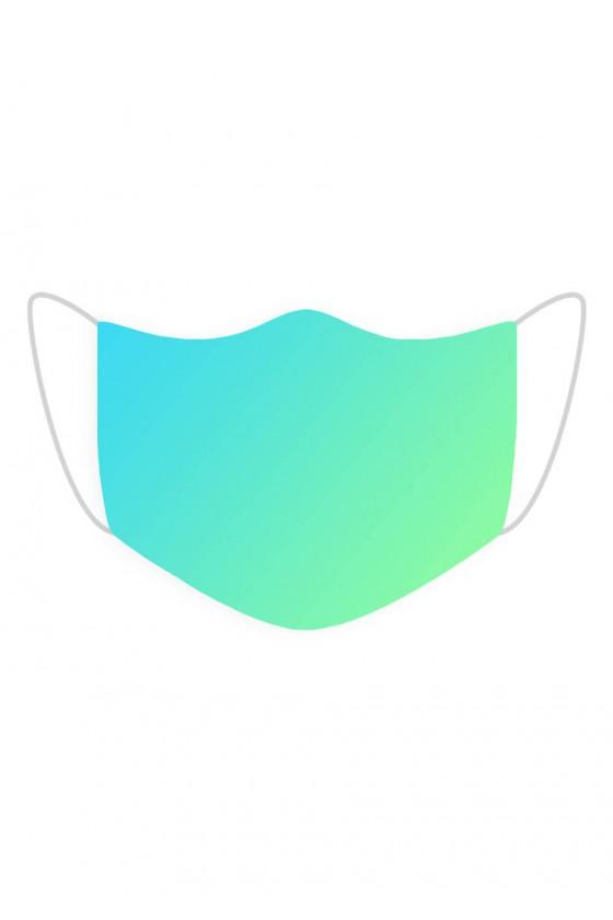 Maseczka Niebiesko-zielona