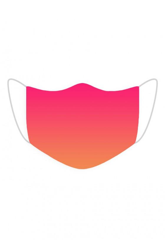 Maseczka Pomarańczowo-różowa