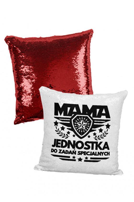 Poduszka cekinowa Mama Jednostka do zadań specjalnych