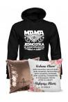 Zestaw prezentowy dla Mamy - Bluza Mama Jednostka i Poduszka Cekinowa z Wyznaniem