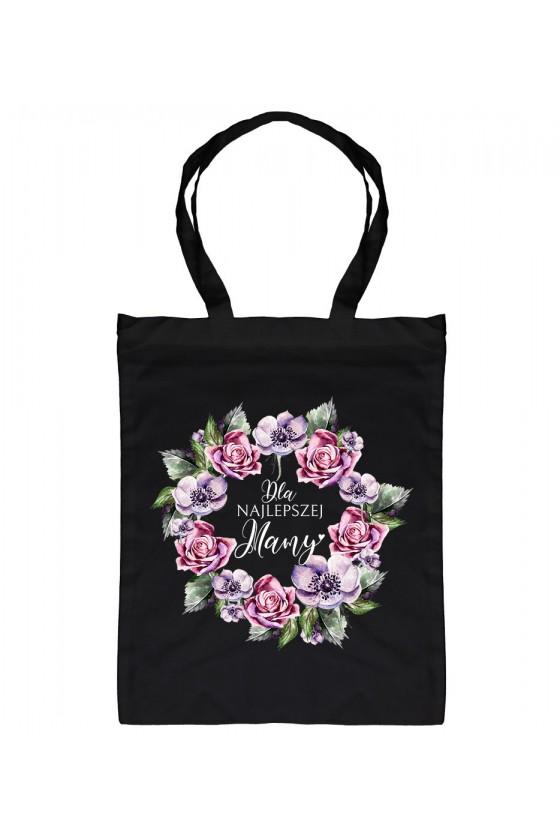 Torba bawełniana Dla Najlepszej Mamy fioletowe kwiaty