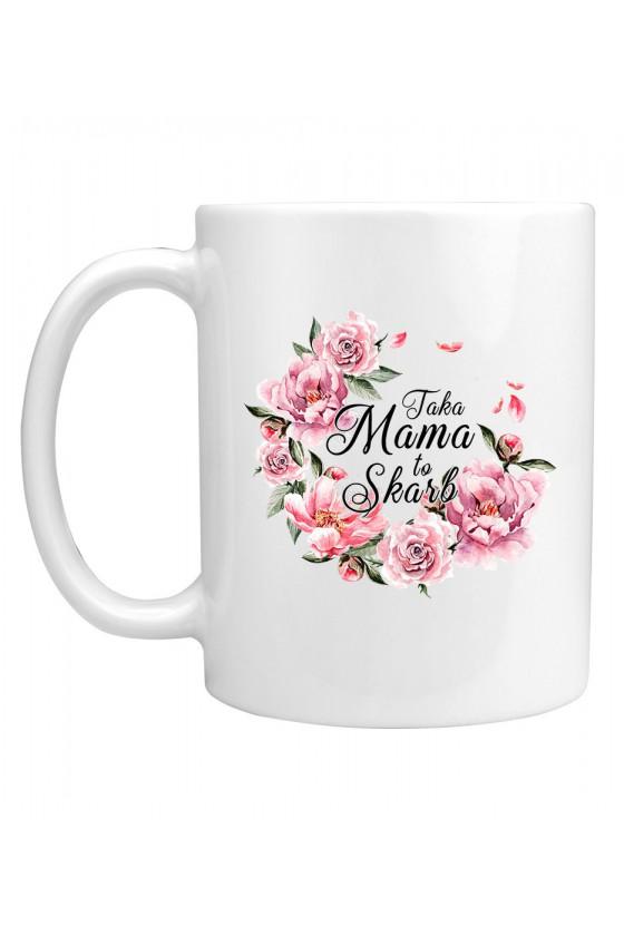 Kubek Taka Mama to Skarb bukiet kwiatów