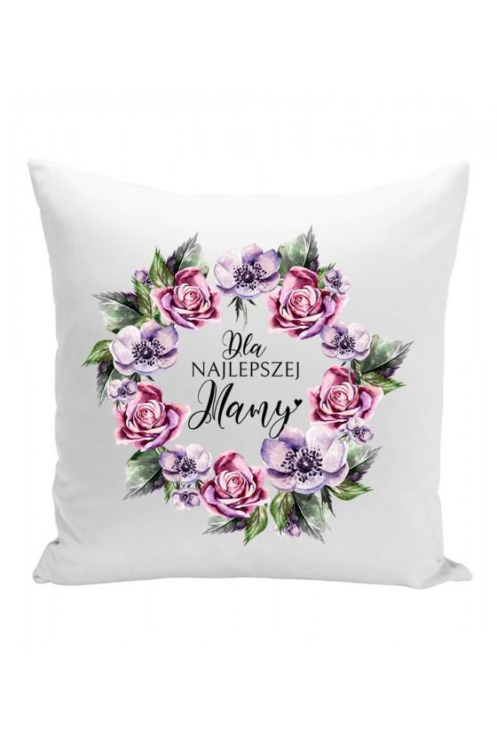 Poduszka Dla Najlepszej Mamy fioletowe kwiaty