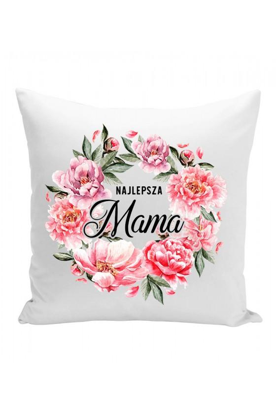 Poduszka Najlepsza Mama bukiet kwiatów