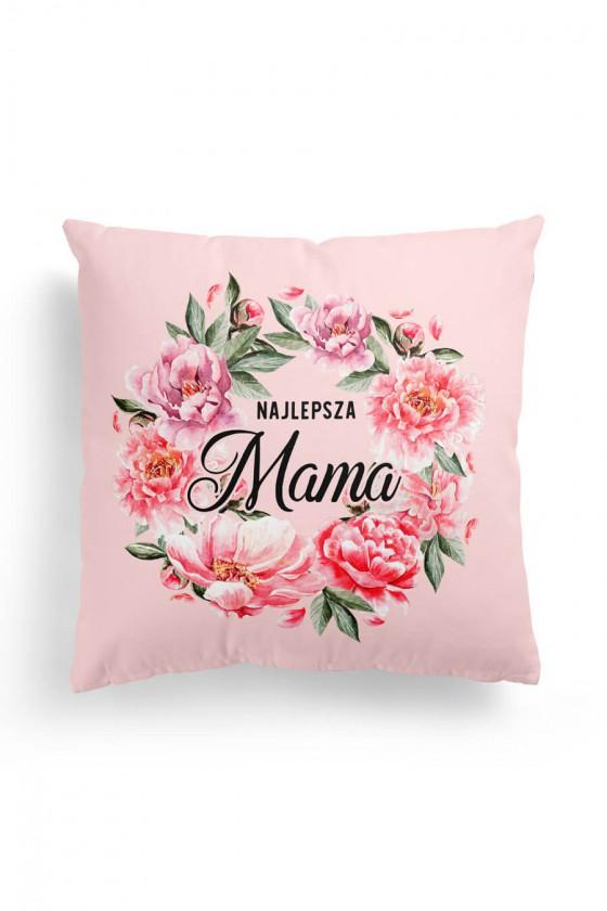 Poduszka Premium Najlepsza Mama Różowe Kwiaty
