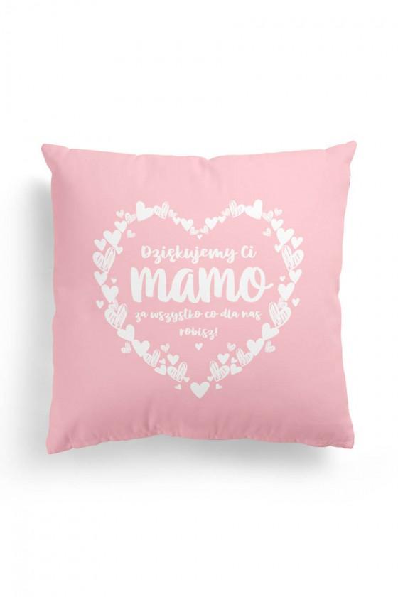 Poduszka Premium Dziękujemy Ci Mamo Blady Róż