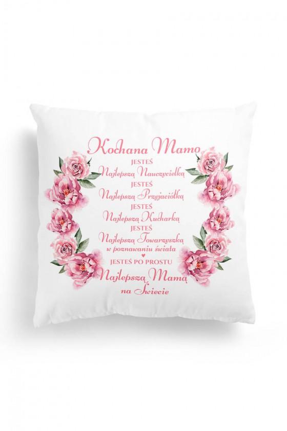 Poduszka Premium Kochana Mamo Wyznanie w Kwiatach