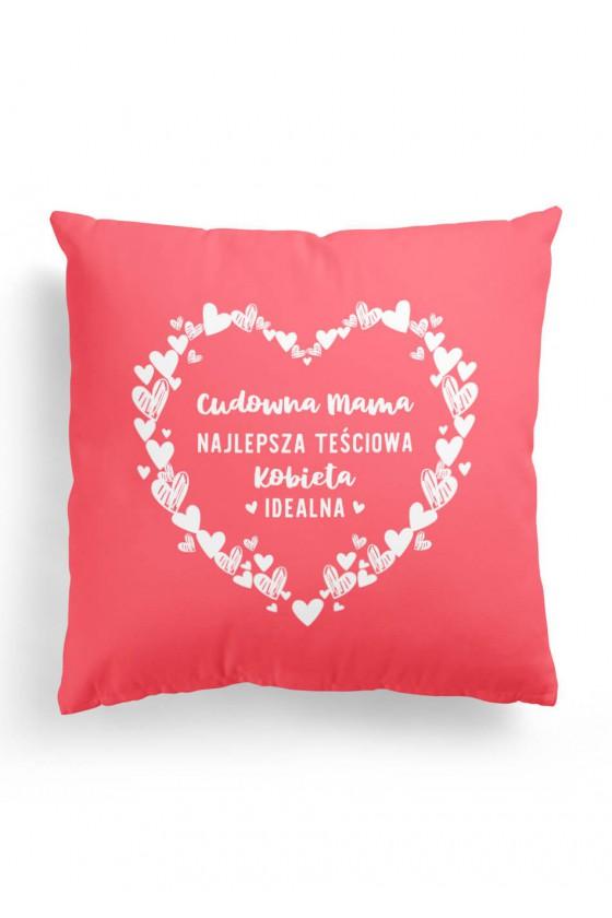 Poduszka Premium Cudowna Mama Najlepsza Teściowa