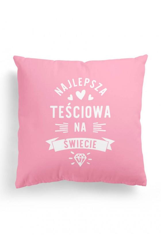 Poduszka Premium Najlepsza Teściowa na Świecie Różowa