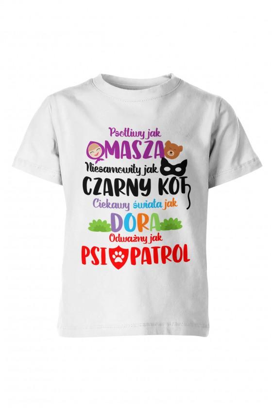 Koszulka dziecięca Ulubione bajki dzieci - dla chłopca