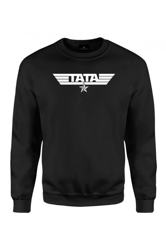 Bluza klasyczna z napisem Tata - wojskowy styl