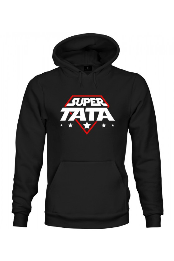 Bluza z kapturem Super Tata - kosmiczny styl