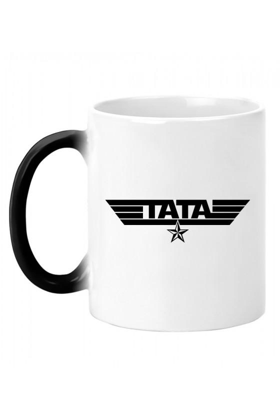 Kubek magiczny z napisem Tata - wojskowy styl