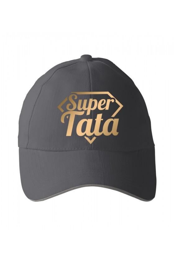 Czapka z daszkiem dla Taty Super Tata - złote