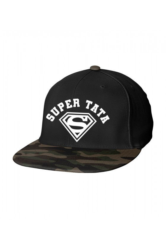 Czapka Camo Snapback dla Taty Super Tata - nowa wersja