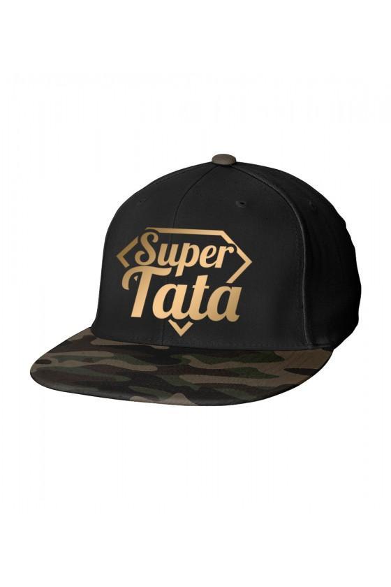 Czapka Camo Snapback dla Taty Super Tata - złote